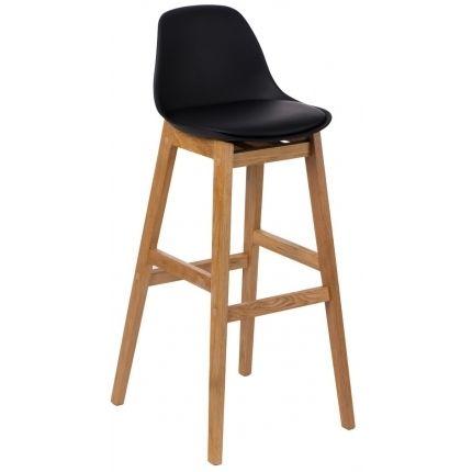 Barová židle Wood, černá