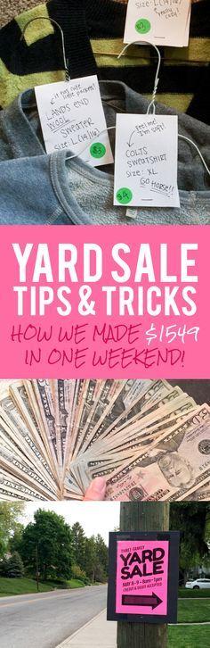Yard Sale Tips & Tricks