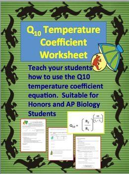 Q10 Temperature Coefficient Worksheet