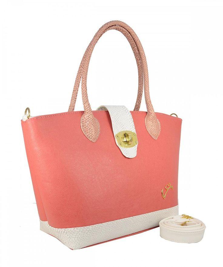Κοραλί τσάντα ώμου Veta