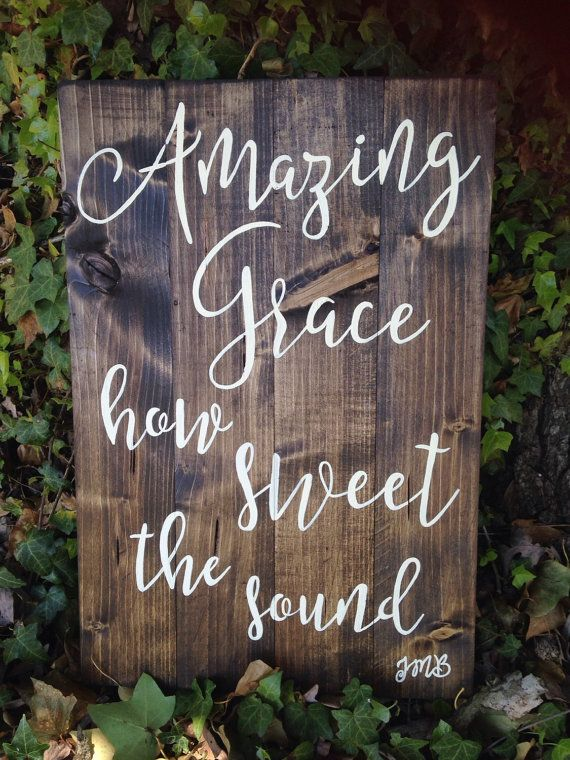 Amazing Grace how sweet the sound reclaimed by SignsAndSignatures
