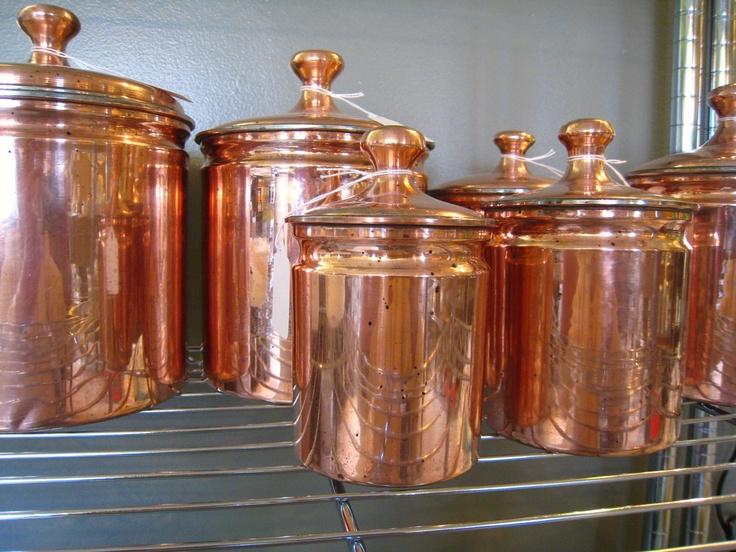 Vintage Kitchen Copper Canister Set of 6 | Décor