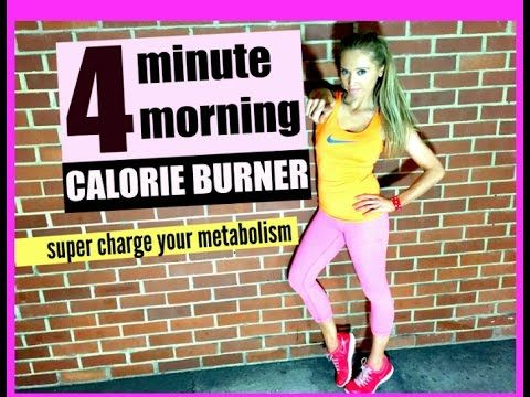 This is a quick calorie burning workout which takes just 4 minutes and you could do this every morning and this way your body will be burning off extra calor...