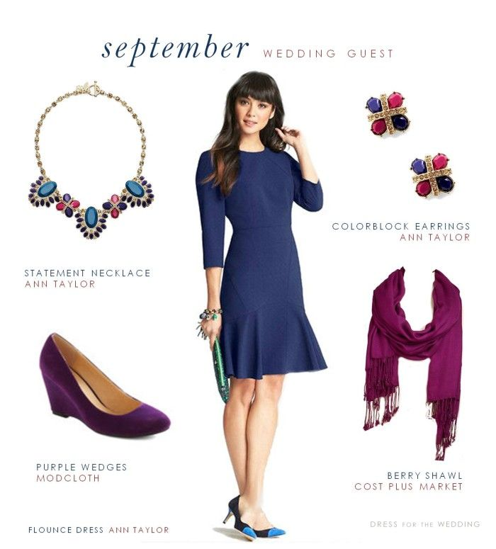 September Outdoor Wedding Guest Attire