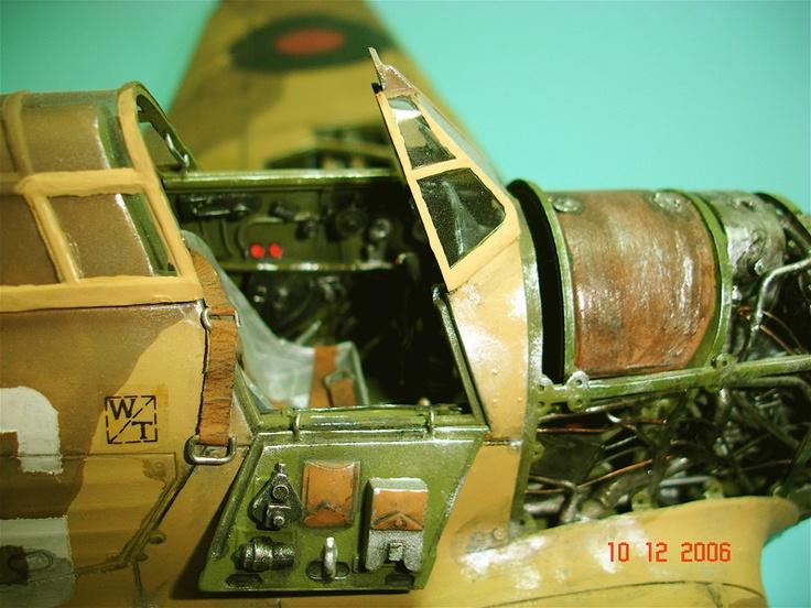 Excellent Hurricane Model Cockpit