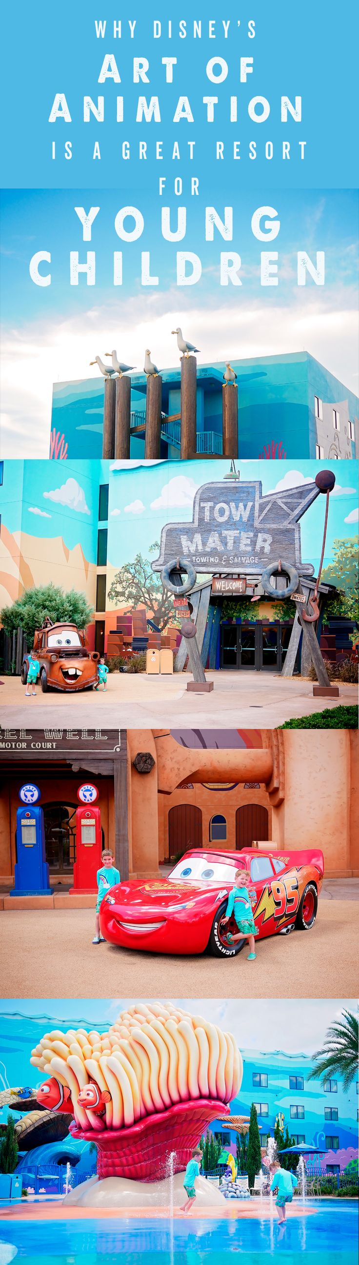 Disney hotels for young children. Disney resorts for young children. Why disney's art of animation is great for young children. Art of animation review. Disney World hotels. Disney World resorts. Disney World accommodation