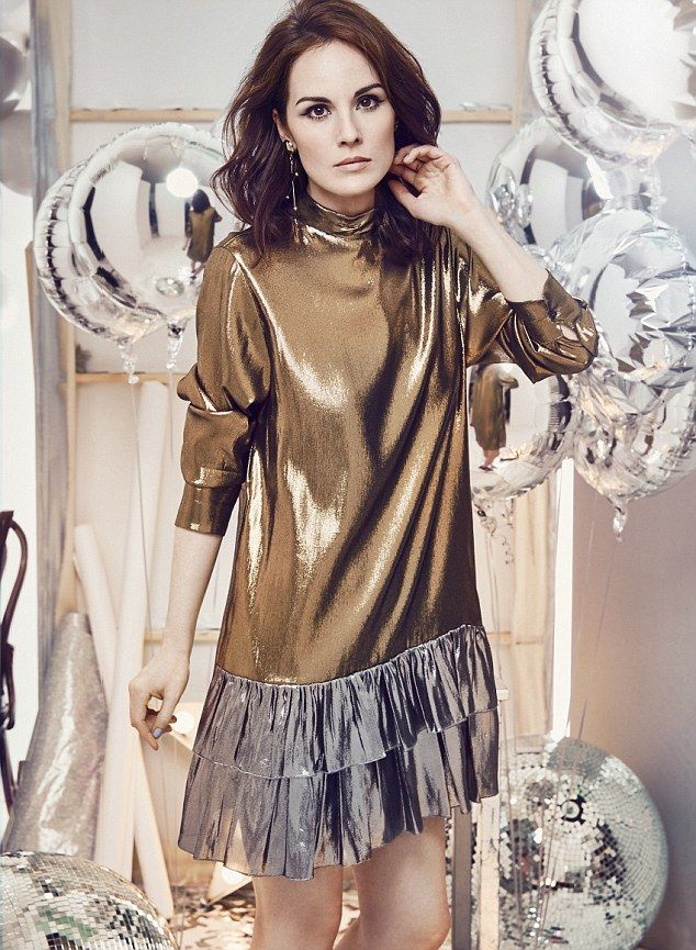 Dressed to impress: Michelle Dockery shared details of her post-Downton Abbey anxiety with Red Magazine