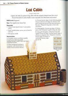 Log Cabin Tissue Box Cover 1/2