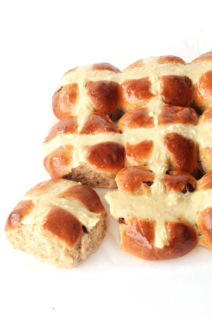There is one thing that my husband and I always get excited about this time  of year. The hot cross buns!They grace our shelves soon after Christmas  and we always rush to get our hands on them while we have the chance.  However, homemade Hot Cross Buns are a whole new level of Easter  deliciou