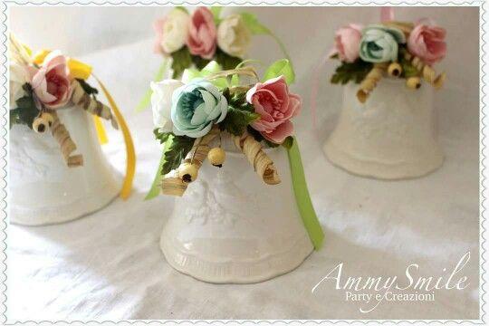 Campane porcellana  con creazioni di fiori AmmySmile