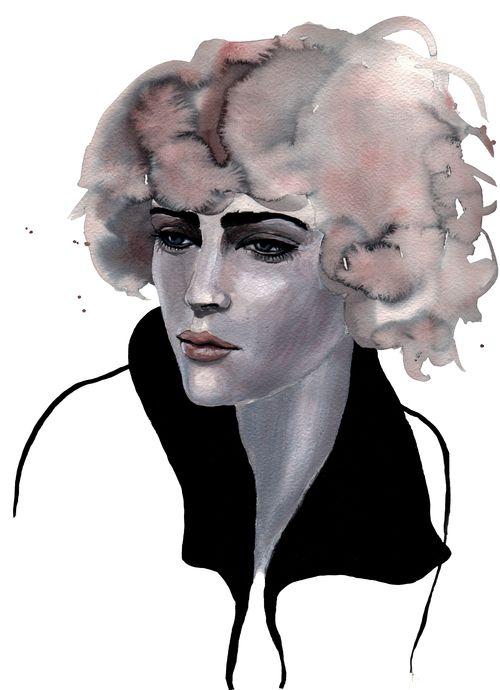 Carla #illustration #painting #watercolor #fashion