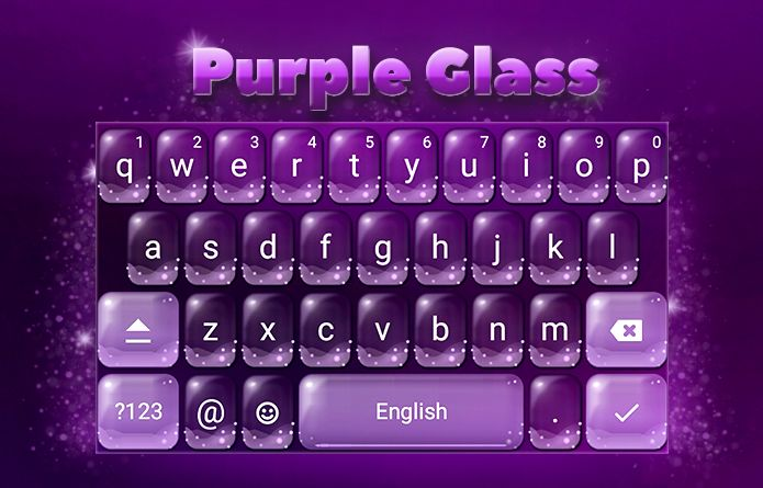 Purple Glass Theme: A purple glass to make your Android keyboard unique among all your friends! #android #theme #design #wallpaper #keyboard #technology #gadgets #design #redrawkeyboard #purple #glass #bubbles
