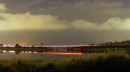 Time lapse shows a lightshow over Carlsbad Lagoon - Stupid Videos