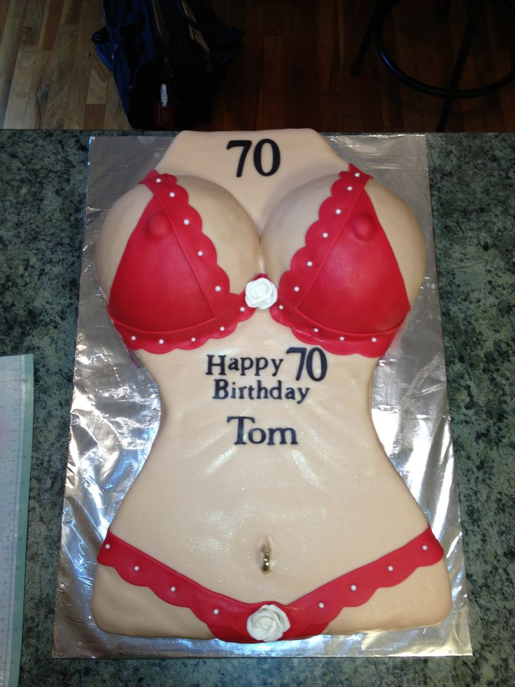 Bikini body cake!!! 70th birthday