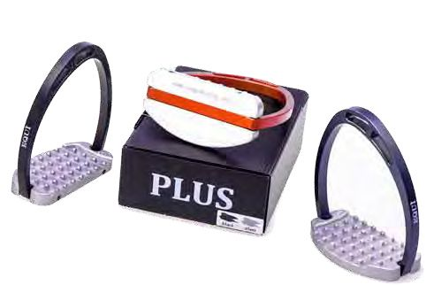 Plus by Equi Their Biggest Seller, remarkable Grip in Foot Plate! Weight: 310 grams Material: Aluminium ANTICORODAL Price: £160 at http://justriding.com of course! :-)