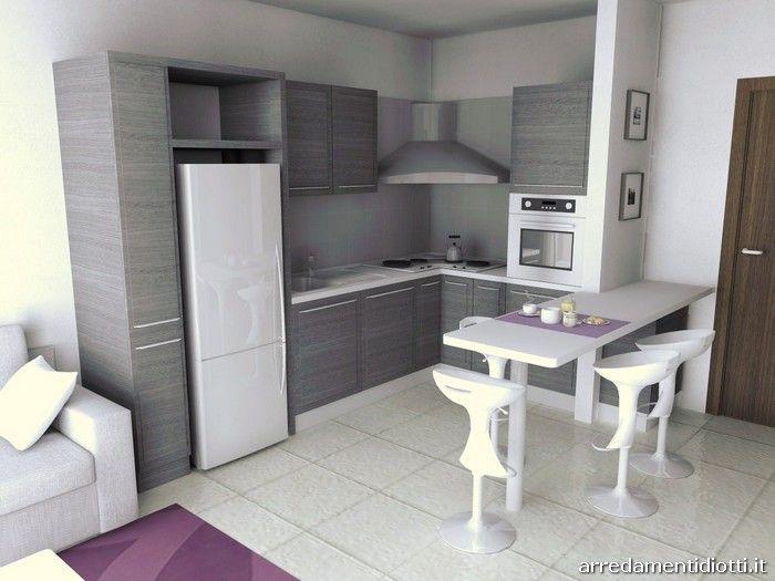 Design contemporaneo per kalì, cucina dal volto eclettico. Amabile Open Space Soggiorno Cucina Cucina Appartamento Piccolo Arredamento Moderno Cucina Arredamento