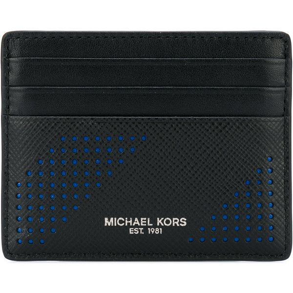 Michael Kors Harrison card holder (121 CAD) ❤ liked on Polyvore featuring men's fashion, men's bags, men's wallets, black, mens card holder wallet, mens leather credit card holder wallet, mens card case wallet, mens leather card case wallet and mens leather wallets