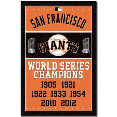 San Francisco Giants World Series Champions Baseball Poster