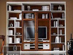 - Librería de madera maciza con soporte para tv VIVRE LUX | Librería lacada - Arvestyle