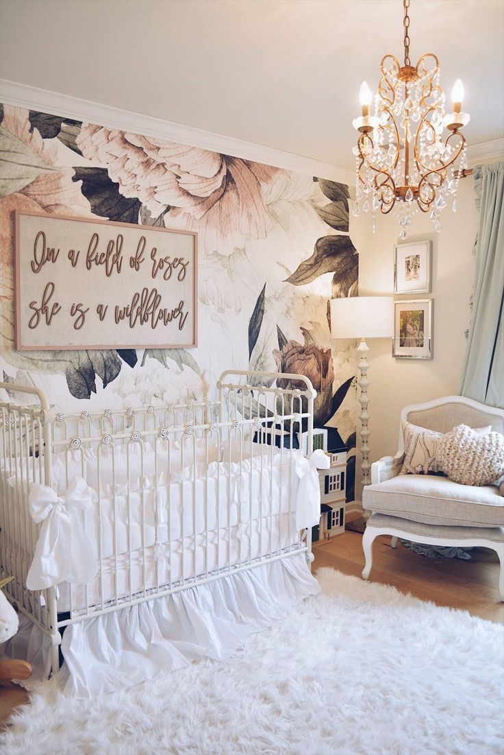 Floral Wallpaper Nursery A Vintage Inspired The Pink Dream Baby Room Girl