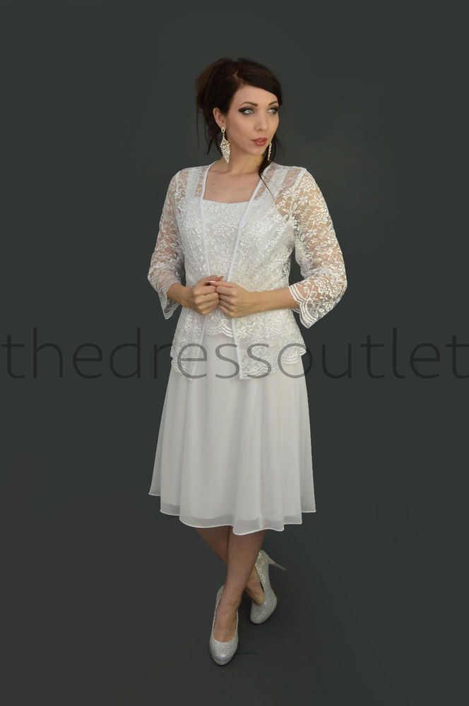 Mother Of The Bride Dress With Jacket Plus Size Cocktail