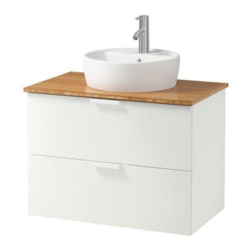 GODMORGON/TOLKEN / TÖRNVIKEN Sza umyw bla 45 umyw - bambus, biały - IKEA