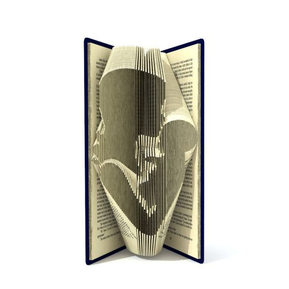Book fold pattern MUM KISSING BABY 166 by SimplexBookFolding
