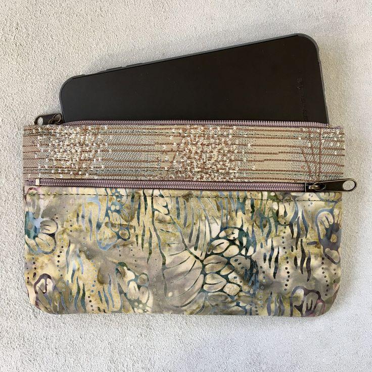 Vegan Wallet clutch iPhone case vegan bag Beige Olive Lemon accessories bag  zippers pockets bridesmaid gift for her Pat Halpen design by SkyPathDesign on Etsy