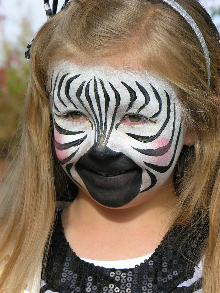 Zebra Print Face Paint Best Animals Galleries Animalzio
