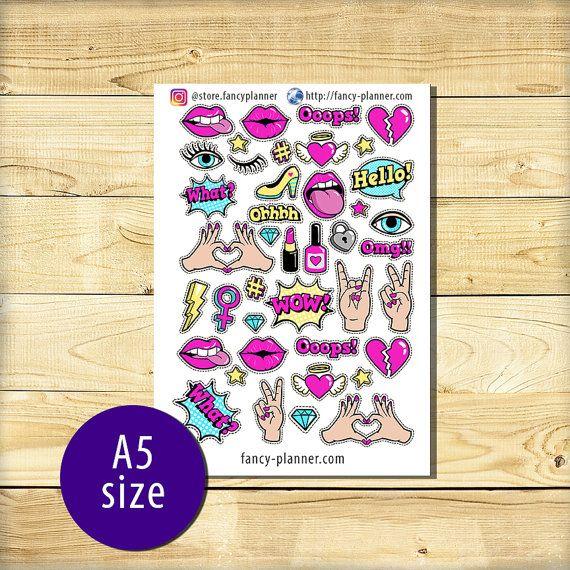 A5-012 Planner cute stickers A5 binder от StoreFancyplanner