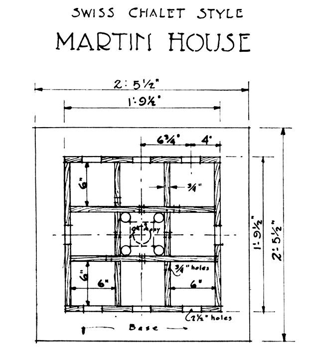 Print a free swiss chalet purple martin house design for Swiss house plans