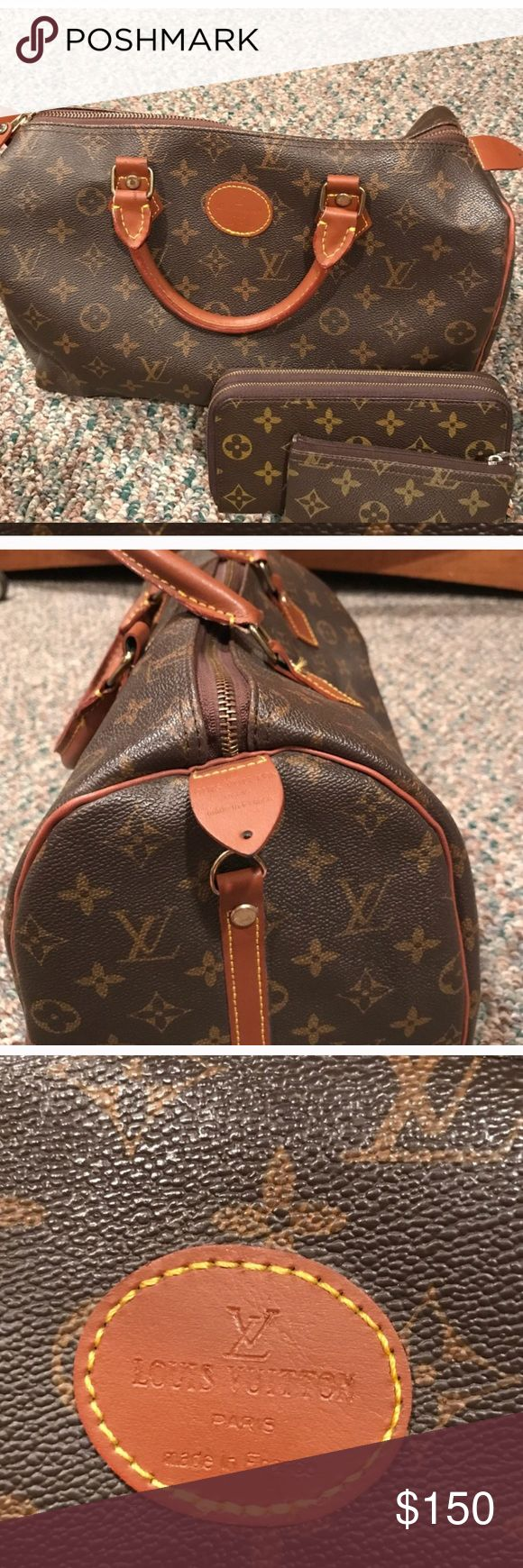 Bundle LX purse all three pieces included This is high quality non authentic purse, price includes all three pieces. Bags