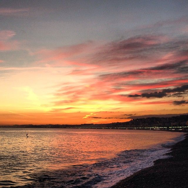 Sunset from la Promenade des anglais