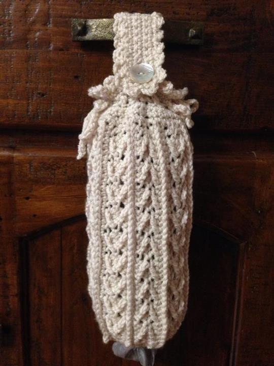 Crochet Pattern Plastic Bag Holder : Plastic Bag Holder crochet Pinterest
