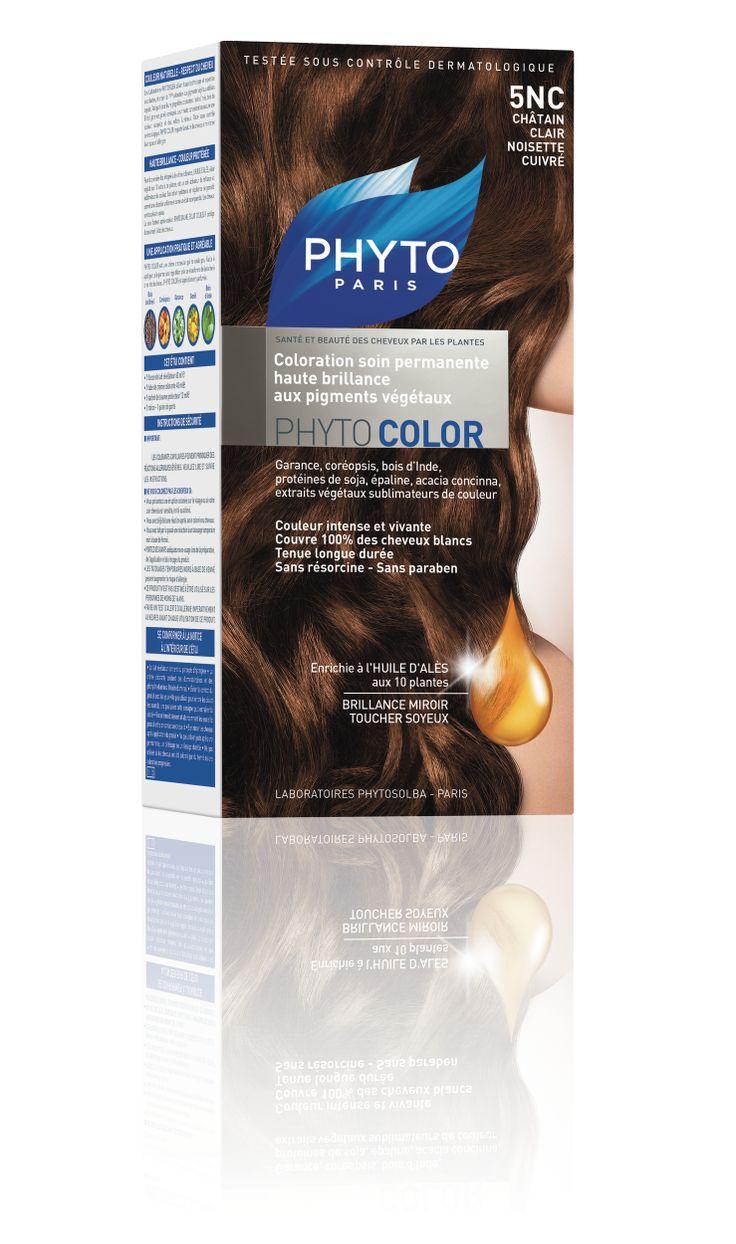 phytocolor coloration permanente tous cheveux nuance 5nc chtain clair noisette cuivr phyto - Coloration Blond Clair Cuivr