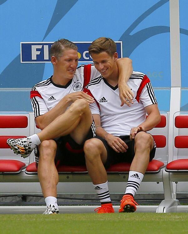 Erik Durm and Bastian Schweinsteger