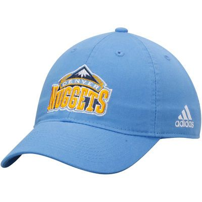 Denver Nuggets adidas Basics Slouch Adjustable Hat - Light Blue
