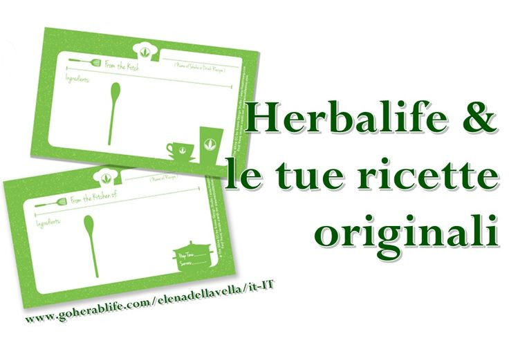 Prova le gustose ricette Herbalife. Per info sui prodotti : https://www.goherbalife.com/elenadellavella