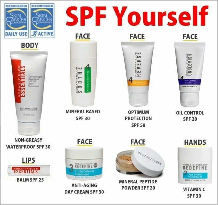 Rodan and Fields products contain SPF. Protect that skin.