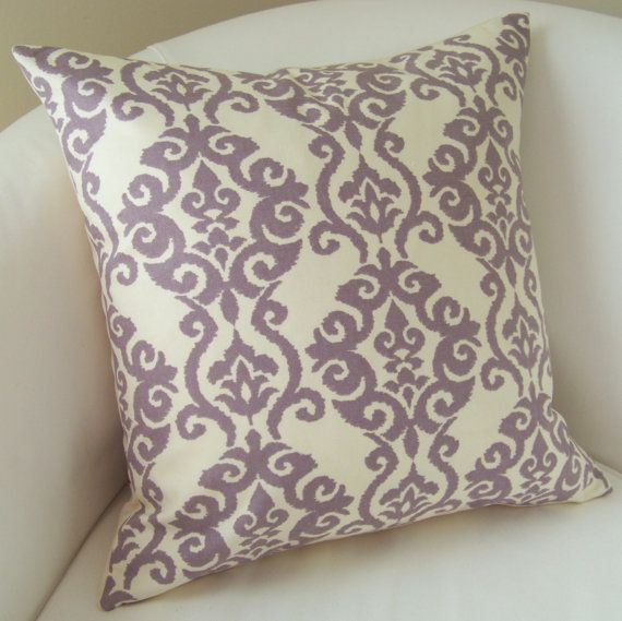 Decorative Throw Pillow Cover Lilac Purple Pillow 18 or 20 Inch Accent Cushion