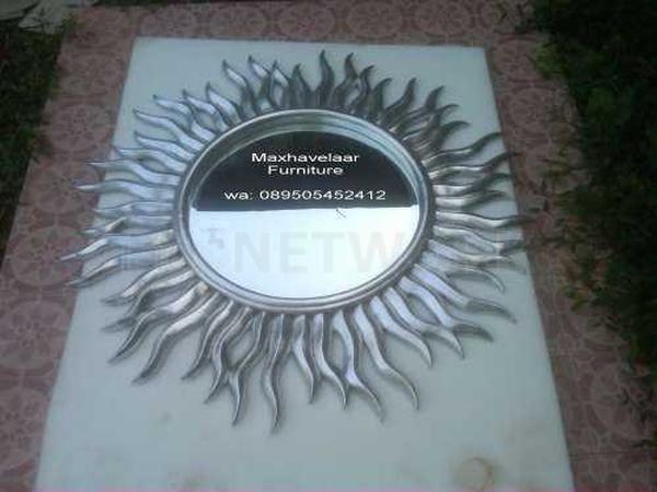 Cermin matahari silver leaf sun mirror • Max Havelaar Furniture • Indonetwork.co.id