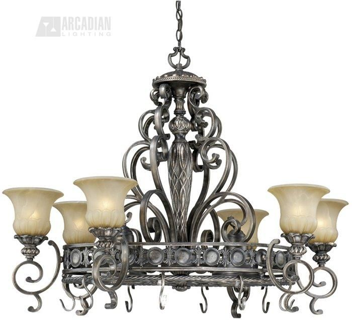 Vaxcel Lighting BG-PDB420PZ Bellagio Traditional Pot Rack Chandelier VX-BG-PDB420PZ