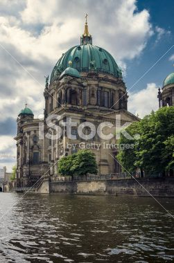 Berliner Dom, view from Spree River #Berlin #istock