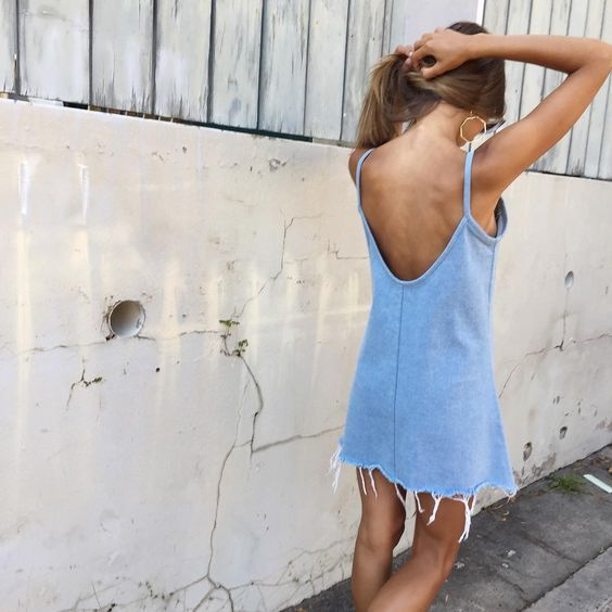 Perfect denim summer dress