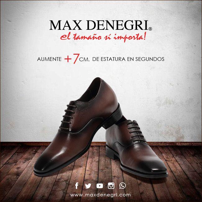 Zapatos para Hombre moda, estilo, comodidad, calidad y +7cm de altura. Para cada momento de tu vida existe Max Denegri.