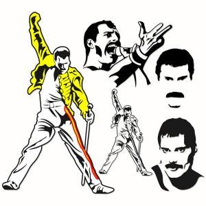 Freddie Mercury Queen rock band Cuttable Design Cut File. Vector, Clipart, Digital Scrapbooking Download, Available in JPEG, PDF, EPS, DXF and SVG. Works with Cricut, Design Space, Sure Cuts A Lot, Make the Cut!, Inkscape, CorelDraw, Adobe Illustrator, Silhouette Cameo, Brother ScanNCut and other compatible software.