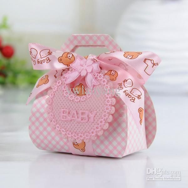 Bear Shape Diy Gift Christening Baby Shower Party Favor Boxes Paper Candy Box With Bib Tags & Ribbons Party Favor Boxes Wholesale Gift Boxes From Ywlanyang, $15.08| Dhgate.Com