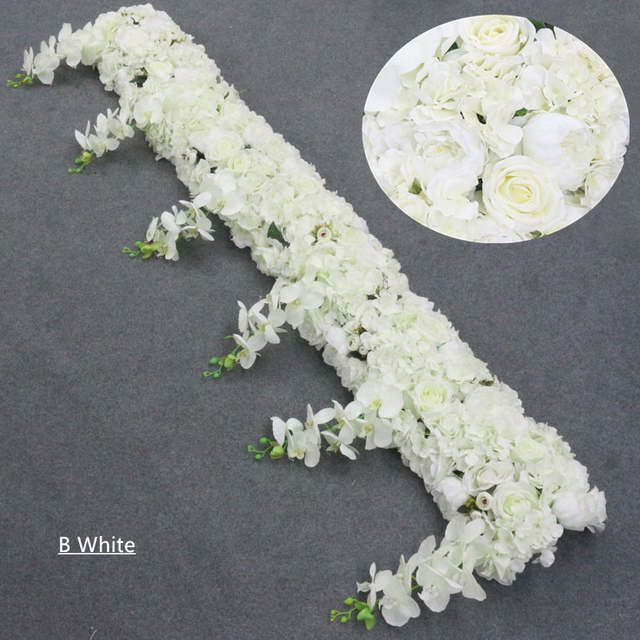Online Shop 1m 2m Artificial Orchid Flower Row Runner Decor Party Wedding Backdrop Iron Arch Stand Road Lead Wis In 2020 Artificial Orchids Dried Flowers Orchid Flower