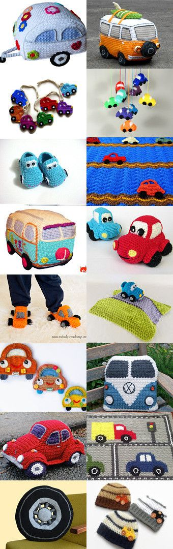 maRRose - CCC: Treasury Tuesday - Crochet Cars by Marianne Dekkers-Roos on Etsy--Pinned+with+TreasuryPin.com