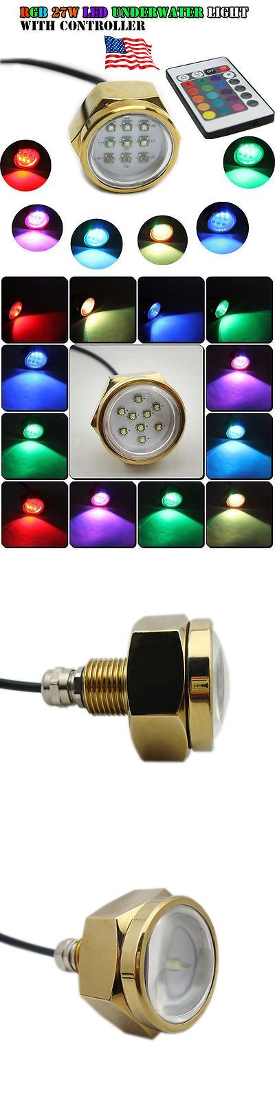 boat parts: Us Stock! 27W Rgb Led Boat Underwater Drain Plug Light Fishing Lamp + Controller -> BUY IT NOW ONLY: $79.99 on eBay!